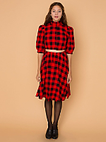 California Select Originals Plaid Matching Top & Skirt