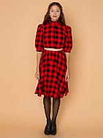 California Select Originals Plaid Matching Top & Skirt