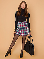 California Select Originals Plaid Mini Skirt
