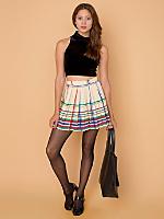California Select Originals Plaid Wool Mini Skirt