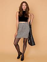 California Select Originals Cable Knit Mini Skirt