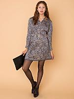 Vintage Floral Silk Shirt Dress