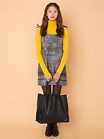 California Select Originals Plaid Button-Up Pocket Dress