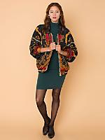 Vintage Foliate & Tartan Bomber Jacket