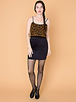 California Select Originals Leopard Mohair Tank