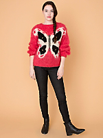 Vintage Butterfly Mohair Sweater