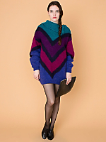 Vintage Oversized Chevron Mohair Sweater