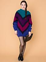 Vintage Oversized Chevron Mohair Sweater