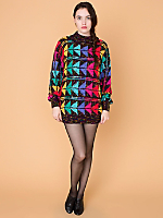 Vintage Rainbow Triangles Knit Sweater