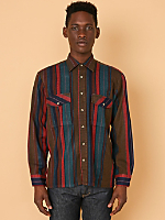 Vintage Striped Heavyweight Button-Up