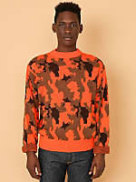 Vintage Bright Camouflage Knit Sweater