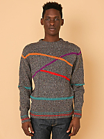 Vintage Colorful Lines Knit Sweater