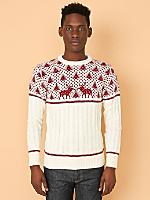Vintage Reindeer Ski Sweater
