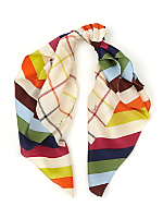 Vintage Coach Colorful Silk Scarf
