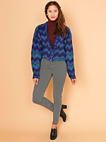 California Select Originals Cropped Mohair Cardigan