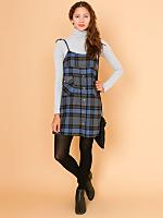California Select Originals Plaid Button-Up Pocket Dress