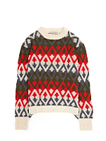 Vintage Kids' Patterned Knit Ski Sweater