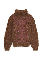 Vintage Kids' Chunky Wool Turtleneck Sweater