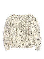Vintage Kids' Hand-Knit Wool Sweater