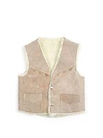 Vintage Kids' Suede & Shearling Vest