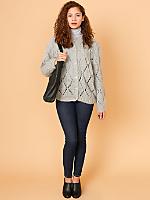 Vintage Open Knit Wool Cardigan
