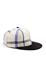 California Select Originals Plaid Wool & Suede Cap