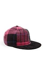 California Select Originals Plaid Wool & Suede Cap
