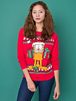 Vintage Garfield Christmas Sweatshirt
