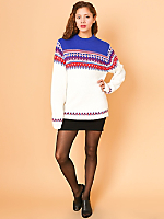 Vintage Fair Isle Knit Ski Sweater