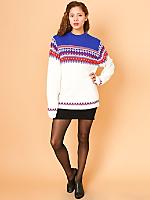 Vintage Fair Isle Knit Ski Sweater