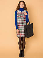 California Select Originals Plaid Sleeveless Dress