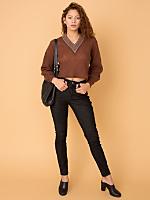California Select Originals Wool Cropped Sweater