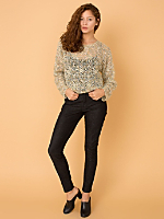 Vintage Open Knit  Mohair Cropped Sweater