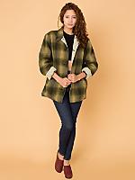 Vintage Lined Heavyweight Wool Flannel Jacket