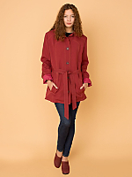 Vintage Contrast Stitching Trench Coat
