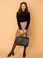 California Select Originals Pleated Wool Mini Skirt