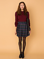 California Select Originals Plaid Wrap Mini Skirt
