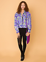 Vintage Graphic Photo Print Jacket