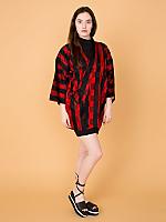 Vintage Checkered Silk Haori Kimono Jacket