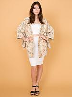 Vintage Patterned Brocade Haori Kimono Jacket