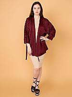 Vintage Striped Haori Kimono Jacket