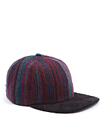 California Select Originals Striped Wool & Suede Cap