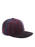 California Select Originals Striped Wool & Suede Cap