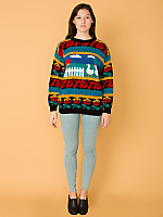 Vintage Ducks Knit Sweater