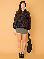 Vintage Oversized Multi-Colored Knit Pullover