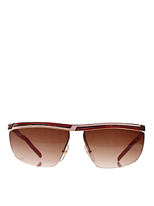 Vintage Jacques Fath Red/Pink Angular Sunglasses