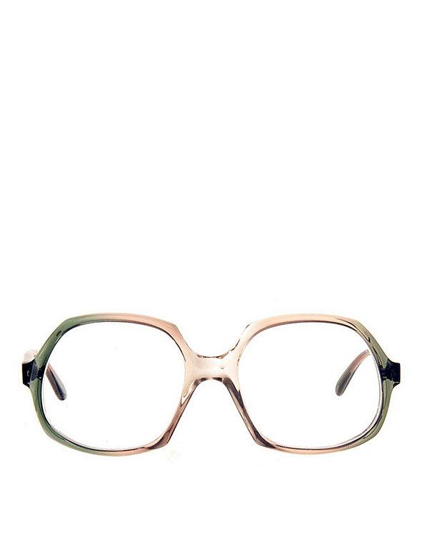 Vintage Playgirl Green/Gray Round Eyeglasses