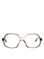 Vintage Playgirl Green/Gray Round Eyeglasses