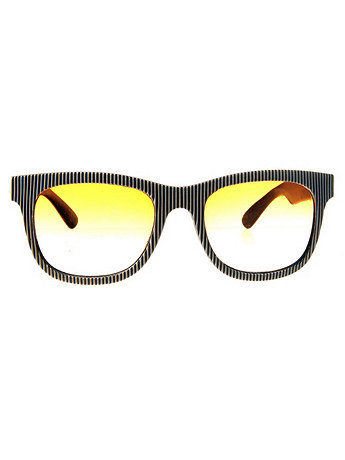 Vintage Jean Pierre Lamy Striped Frame Sunglasses
