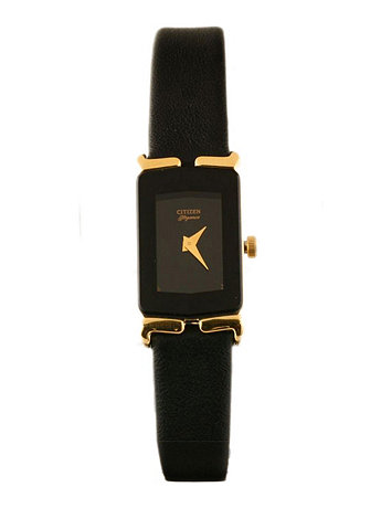 Citizen Elegance Black Ladies' Leather Band Watch